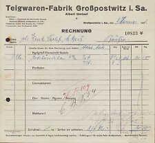 GROSSPOSTWITZ, Rechnung 1932, Teigwaren-Fabrik Albert Umlauf