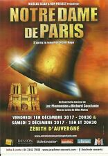 FLYER - NOTRE DAME DE PARIS ( COMEDIE MUSICALE ) CONCERT 2017 A CLERMONT FERRAND