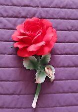 Rosa  CAPODIMONTE  porcellana - certificato - regalo per Natale