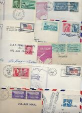 US 1930s 50s COLLECTION OF 24 US NAVY ARMY AIR FORCE POSTED COVER ALL FROM ALASK