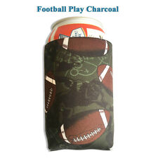 1 Piece Football play charcoal Magnetic Koozie / Coozie Can Holder Hot Holiday