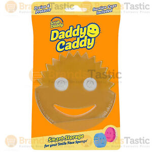 1 X SCRUB DADDY CADDY SMILEY FACE SPONGE HOLDER SMART STORAGE WITH SUCTION CUPS