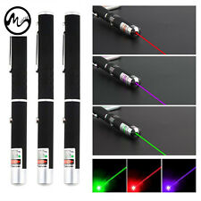 Best 3pcs Powerful 5mW Green+Red+Purple Beam Laser Pointer Pen Visible Light