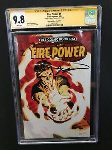 Fire Power #1 FCBD Robert Kirkman Signature SS CGC 9.8