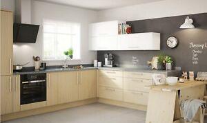 B&Q Sandford Textured Oak Effect & Ivory Effect Kitchen Doors - Varies Sizes