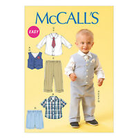 McCall's 6873 Easy Sewing Pattern to MAKE Toddler Shirt Waistcoat Trousers NB-XL