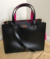 $380 NWT KATE SPADE Black & Pink  Krya Arbour Hill Satchel Bag WKRU4197