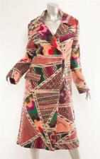 MISSONI 2002 Multi-Color Patchwork Knit Long Coat Jacket 6-42 RARE Limited Ed.