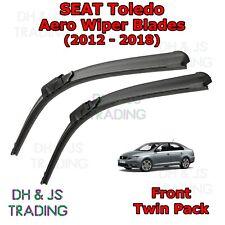 (12-18) Seat Toledo Aero Wiper Blades / Front Windscreen Flat Blade Wipers MK4