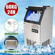 Portable Ice Maker Stainless Steel Bar Restaurant Ice Cube Machine 150Lbs/24H Us