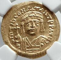 TIBERIUS II CONSTANTINE Authentic Ancient 579AD Gold Byzantine Coin NGC i82322