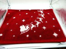 Pottery Barn Christmas hand towel with Santa's slay and reindeer!