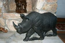african stone carved rhino
