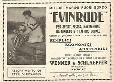 Y2751 Motori marini EVINRUDE - Pubblicità del 1922 - Old advertising