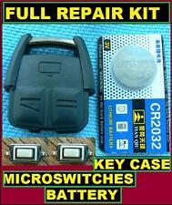 Vauxhall Opel Vectra Zafira 3 button Remote Key Fob Full Repair Kit