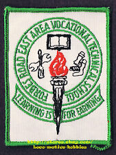 """LMH PATCH Badge  FORBES ROAD EAST AREA VOCATIONAL TECHNICAL SCHOOL Career CTC 4"""""""