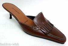 Amalfi Brown Mule Pumps Size 7 or Shoes Heels from Italy