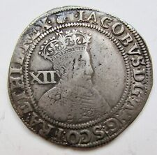 Great Britain James I Shilling Second Bust---mm:Thistle (1603-04) First Coinage