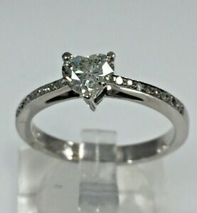 Heart Shape 0.66ct Diamond Engagement Ring/white gold