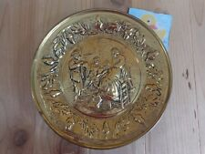 """Brass Plate Wall Pocket Planter 9"""" Metal Vintage Talking in the Kitchen"""