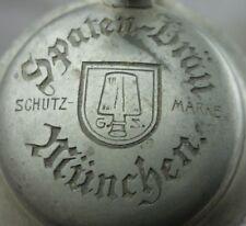 alter Glas Bierkrug Spaten Bräu MÜnchen Nr. 3477/02