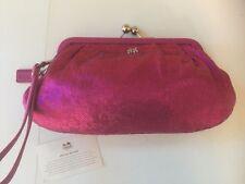 COACH Fuschia Sequin Clutch Wallet Wristlet Purse Coach Special Occassion #44475