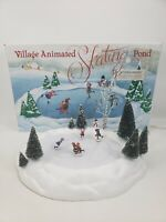 Dept 56 Village Animated Skating Pond 52299 Complete and Working TESTED