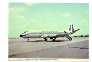 East Midlands  airport   postcard British Midland airline Viscount 700