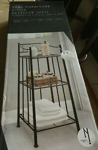 SOHL FURNITURE 3-TIER BATHROOM SHELF Oil Rubbed Bronze NIB