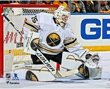 "Linus Ullmark Buffalo Sabres Unsigned White Jersey Making Save 8"" x 10"" Photo"