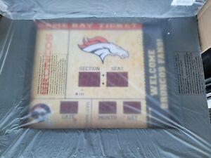Team Sports America Denver Broncos Bluetooth Scoreboard Wall Clock NEW