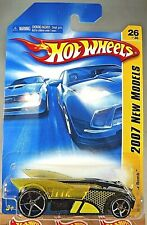 2007 Hot Wheels #26 New Models 26/36 BUZZ BOMB Black Yellow Wings w/Chrome OH5Sp