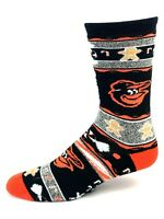For Bare Feet Baltimore Orioles Ugly Holiday Gingerbread Crew Socks