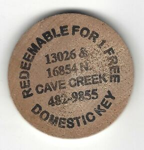 MISPRINT:  Cave Creek, 1 Free Domestic Key Token, Wooden Nickel