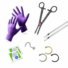 Nose Piercing Kit Nose Screw And Hopps 10 Pieces