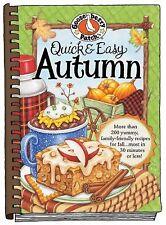 Gooseberry Patch Quick & Easy Autumn Hard Cookbook Recipe Book NEW