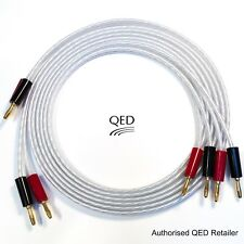 QED XT25 Performance Speaker Cable 2 x 4m Gold Banana Plugs Terminated Pair