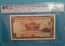1969 Hong Kong HSBC $5 PCGS64 UNC <P-181c>
