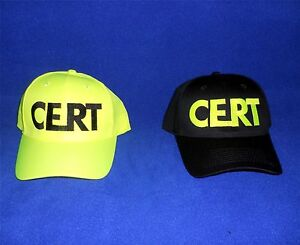 CERT Ball Cap Hi-Viz   Disaster Preparedness