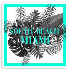 2 x 10cm South Beach Miami Florida Vinyl Stickers - USA Luggage Sticker #34690