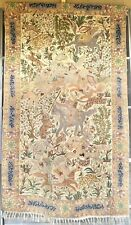 Vintage Hand Embroidery Tapestry - Folk Art