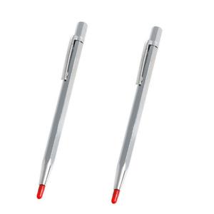 2PC Carbide Scribe MARKING Etching Measuring Tool on Metal Glass