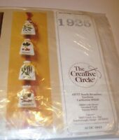 THE CREATIVE CIRCLE SPICE BAGS KITCHEN DECOR CREWEL EMBROIDERY PATTERN KIT