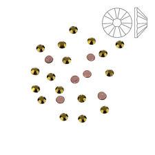 Cristales de Swarovski 2038 Hotfix Flatback Dorado SS6 Paquete de 24 (K58/1)