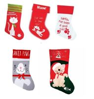 Christmas CAT Stocking Filler Festive MEOWY Xmas Santa Good Kittie Pet Gift New