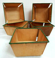 Lot of 5 Vintage Wood Berry Boxes Baskets Strawberry Primative Farmhouse Decor