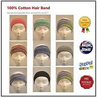 Nepal 100% Cotton Chemo wrap Headband Hijab Neck Warmer Ear warmer Hair Band