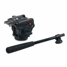 Aluminum Alloy Video Tripod Head Camera Fluid Damping Stand For SLR Camera UK