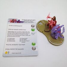 Heroclix Chaos War set Scarlet Witch and Wonder Man #056 Chase figure w/card!