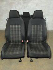 2010-2014 Mk6 Vw Gti Plaid Cloth Bucket Bolster Seats Set Good 2 Door Oem -972(Fits: Golf)